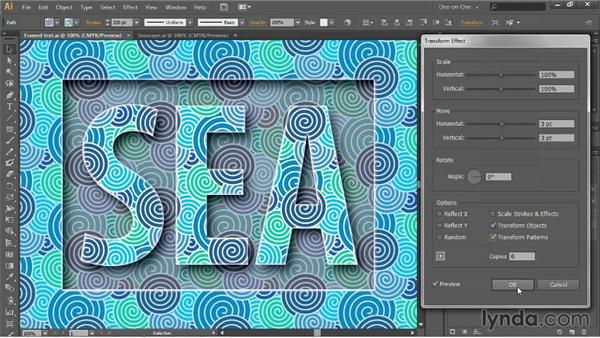 Moving and transforming patterns: Illustrator CC 2013 One-on-One: Intermediate
