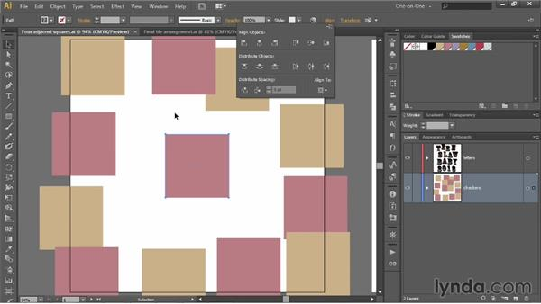 Aligning a group to the artboard: Illustrator CC 2013 One-on-One: Intermediate