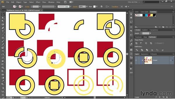 Understanding all ten Pathfinder options: Illustrator CC 2013 One-on-One: Intermediate