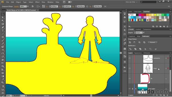 Creating a dynamic compound shape: Illustrator CC 2013 One-on-One: Intermediate