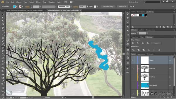 Painting rough leaves with the Blob Brush: Illustrator CC 2013 One-on-One: Intermediate