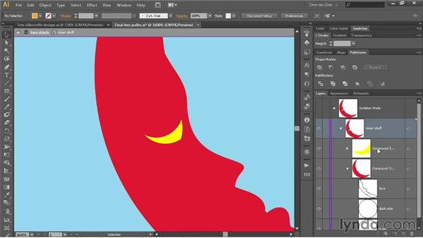 Nesting one compound shape inside another: Illustrator CC 2013 One-on-One: Intermediate