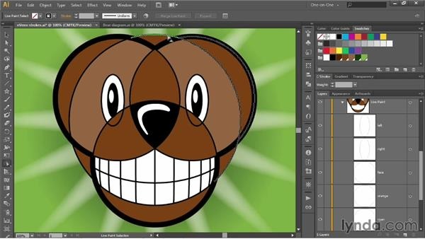 Adding paths to a Live Paint object: Illustrator CC 2013 One-on-One: Intermediate