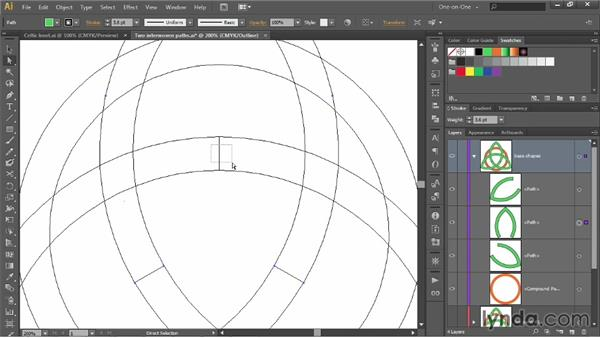 Creating a path that overlaps itself: Illustrator CC 2013 One-on-One: Intermediate