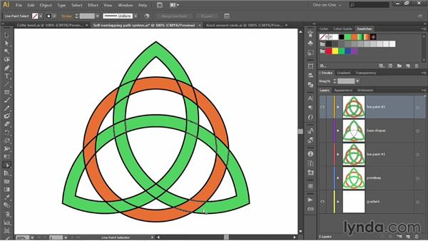 Painting a path that overlaps itself: Illustrator CC 2013 One-on-One: Intermediate