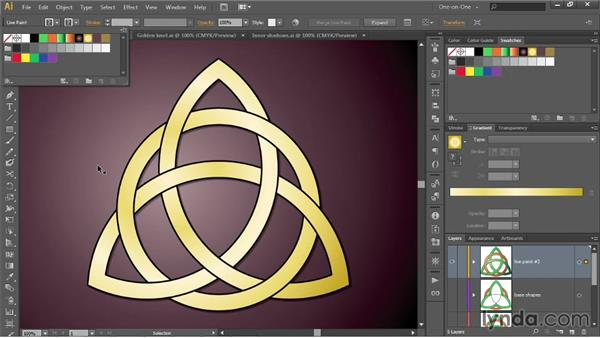 Swapping out Live Paint fills and strokes: Illustrator CC 2013 One-on-One: Intermediate