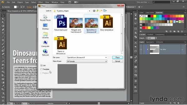 Placing a photograph into your artwork: Illustrator CC 2013 One-on-One: Intermediate