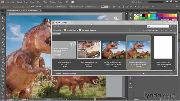 Dragging and dropping photos into Illustrator: Illustrator CC 2013 One-on-One: Intermediate