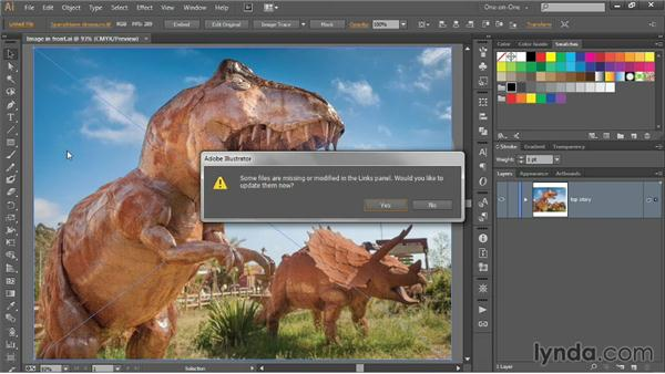 Working with linked images: Illustrator CC 2013 One-on-One: Intermediate