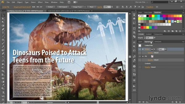 Adding a border to an image and colorizing: Illustrator CC 2013 One-on-One: Intermediate