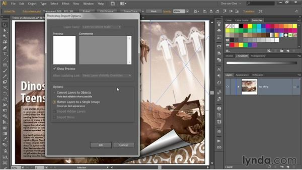 Linking vs. embedding images: Illustrator CC 2013 One-on-One: Intermediate