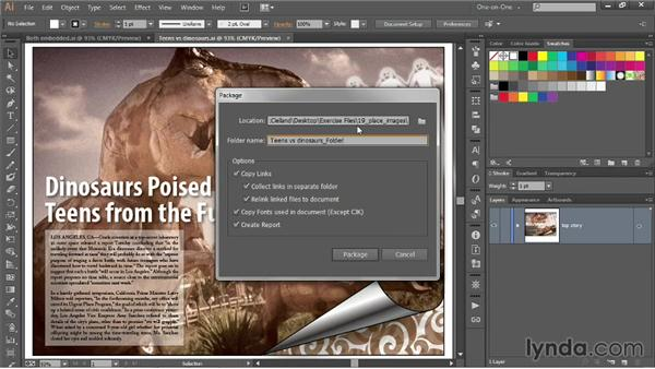 Packaging an Illustrator document: Illustrator CC 2013 One-on-One: Intermediate