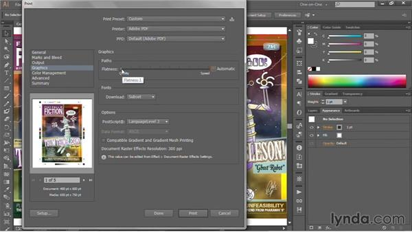 Local and commercial printing: Illustrator CC 2013 One-on-One: Intermediate