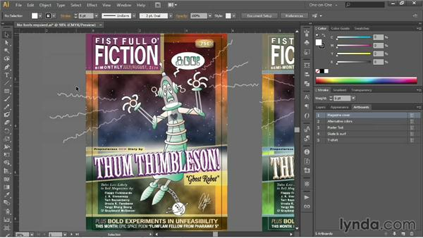 Setting the trim size and bleed: Illustrator CC 2013 One-on-One: Intermediate
