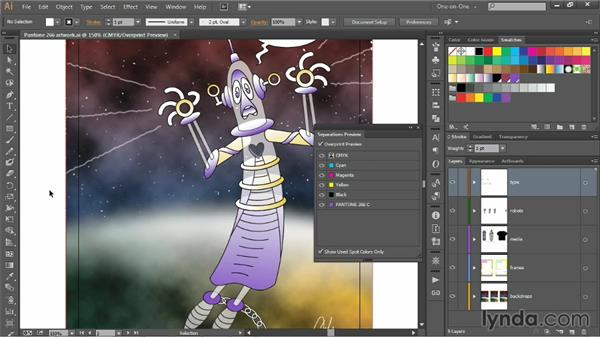 Using the Separations Preview panel: Illustrator CC 2013 One-on-One: Intermediate