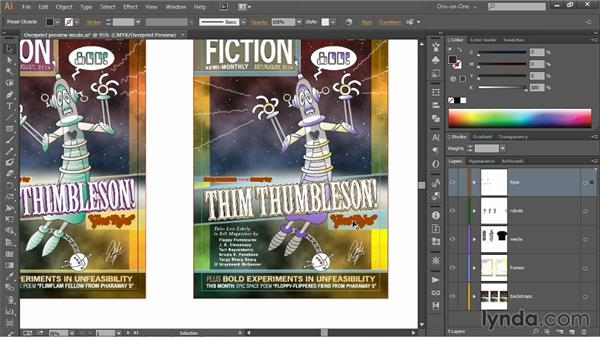 Troubleshoot, overprint, and trapping: Illustrator CC 2013 One-on-One: Intermediate