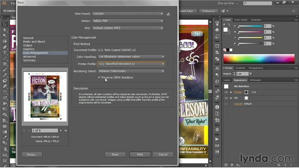The esoteric advanced printing options: Illustrator CC 2013 One-on-One: Intermediate