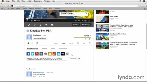 Developing a social marketing presence: YouTube Projects for Business and Marketing