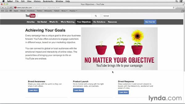 Defining goals: YouTube Projects for Business and Marketing