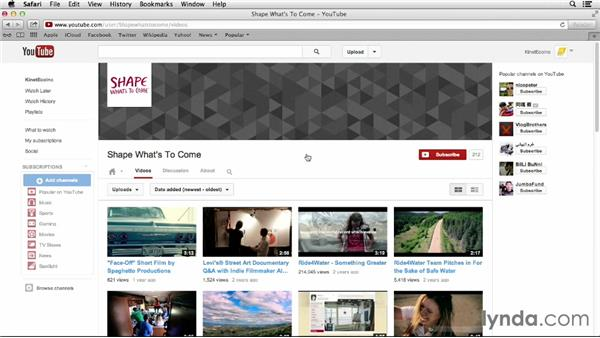 Working with user-made video: YouTube Projects for Business and Marketing