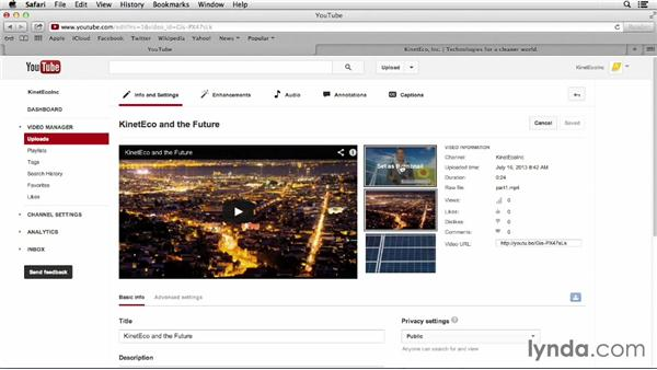 Changing video thumbnails: YouTube Projects for Business and Marketing