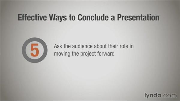 Concluding your presentation: Running a Design Business: Presentation Skills