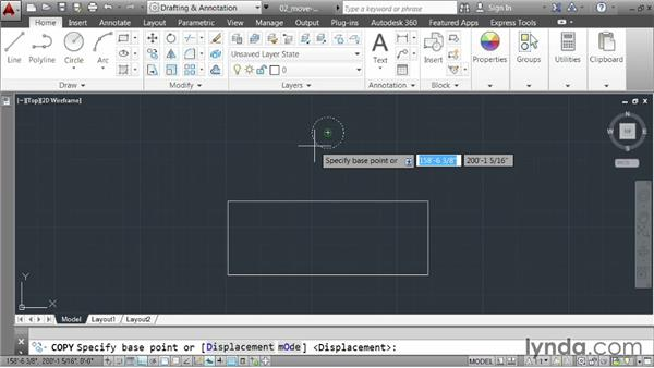 Moving and copying elements: AutoCAD 2014 Essentials: 02 Drawing Fundamentals