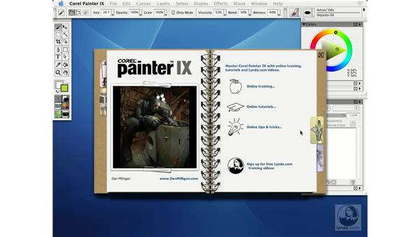 using the welcome screen: Getting Started with Corel Painter IX