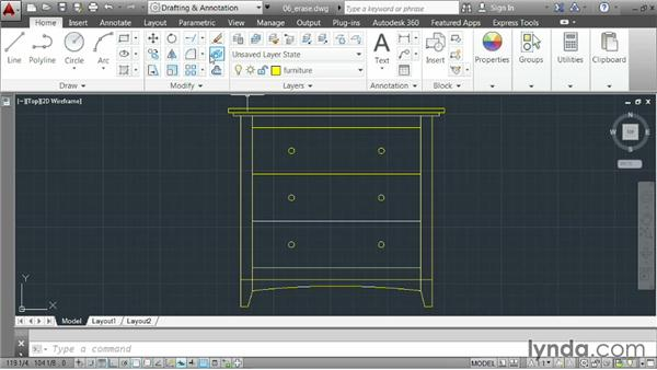 Erasing elements: AutoCAD 2014 Essentials: 02 Drawing Fundamentals