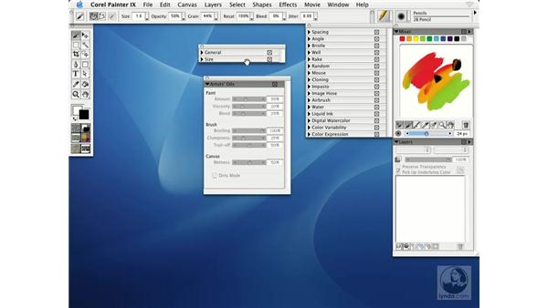 customizing the interface: Getting Started with Corel Painter IX