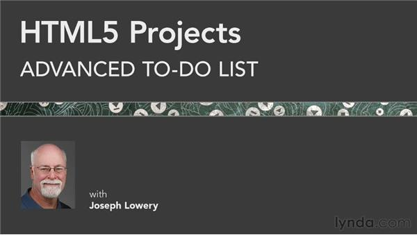 Next steps: HTML5 Projects: Advanced To-Do List