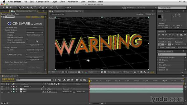 Exploring render settings in CINEWARE and the linear workflow: After Effects Guru: Working with 3D in C4D Lite