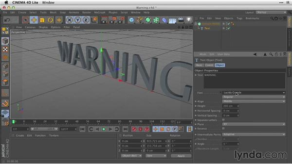 Creating 3D type with extrude NURBS: After Effects Guru: Working with 3D in C4D Lite
