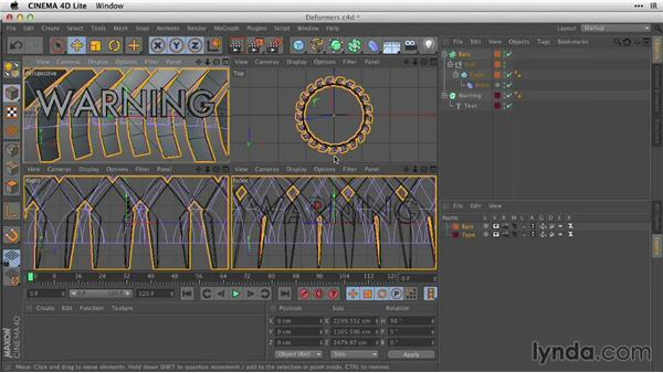 Refining models with deformers: After Effects Guru: Working with 3D in C4D Lite