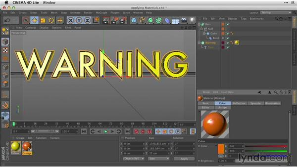Applying materials to 3D type: After Effects Guru: Working with 3D in C4D Lite