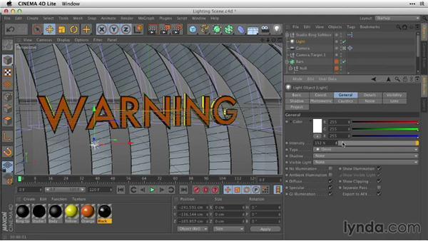 Lighting your scene: After Effects Guru: Working with 3D in C4D Lite