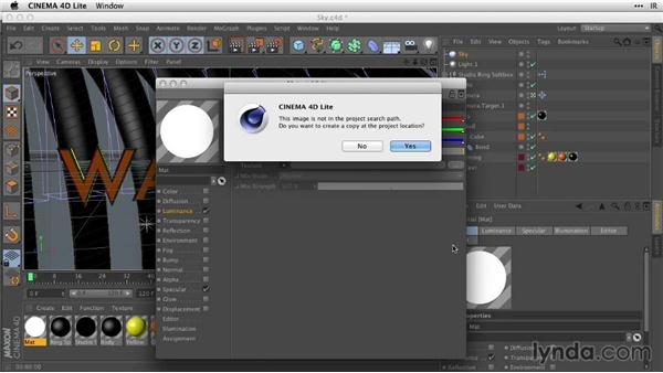 Adding detail with a sky environment: After Effects Guru: Working with 3D in C4D Lite