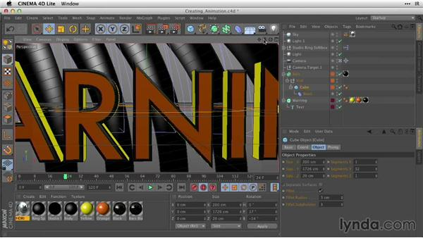 Creating animation in C4D Lite: After Effects Guru: Working with 3D in C4D Lite