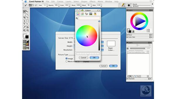 creating and opening images: Getting Started with Corel Painter IX