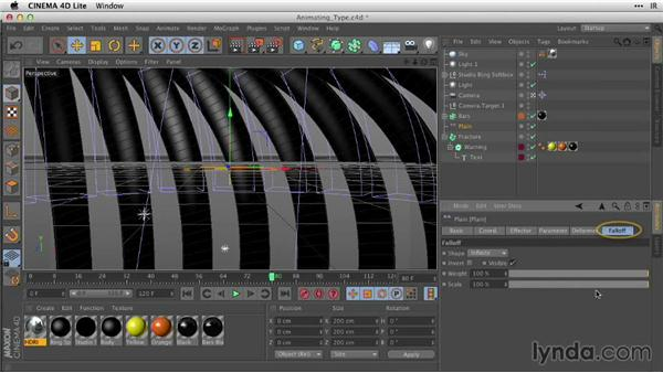 Animating type with effectors: After Effects Guru: Working with 3D in C4D Lite