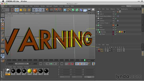 Defining multipass layers in C4D Lite: After Effects Guru: Working with 3D in C4D Lite