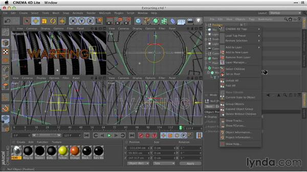 Extracting the C4D data in After Effects: After Effects Guru: Working with 3D in C4D Lite