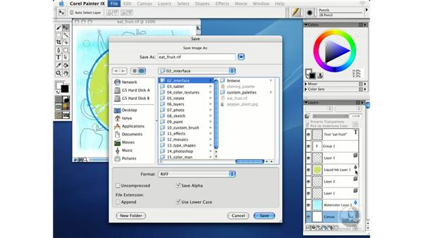 saving images: Getting Started with Corel Painter IX