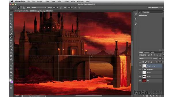 Finding the first boxes in perspective: Digital Matte Painting Essentials 2: Perspective