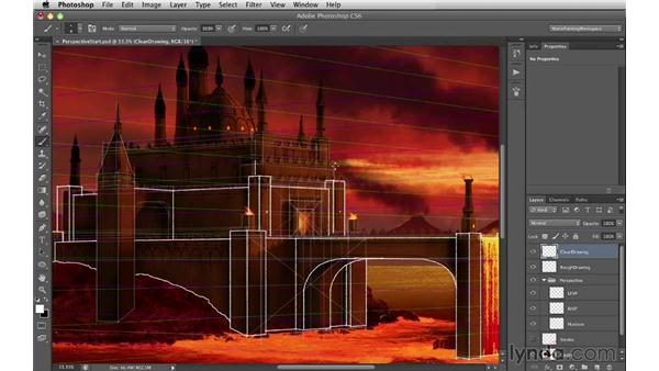 Clean drawing: Digital Matte Painting Essentials 2: Perspective