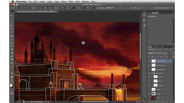 Creating a flat crenellation: Digital Matte Painting Essentials 2: Perspective