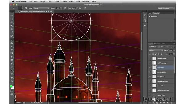 Dividing an ellipse: Digital Matte Painting Essentials 2: Perspective
