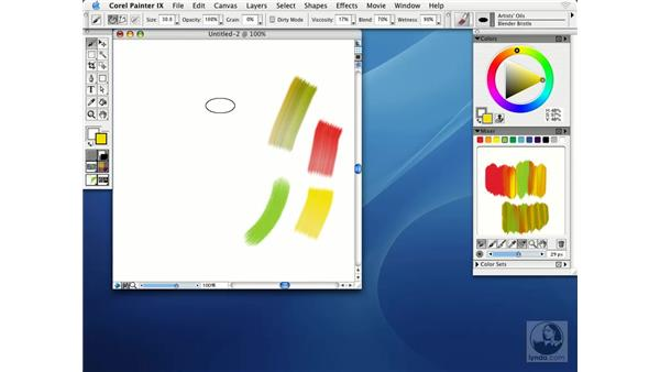 mixing colors interactively: Getting Started with Corel Painter IX