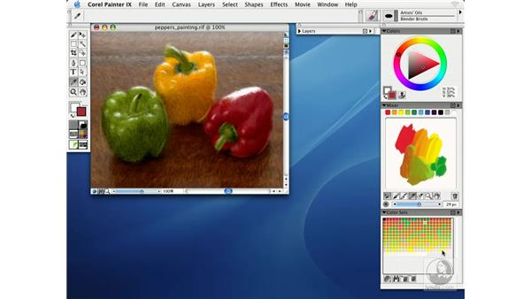 working with color sets: Getting Started with Corel Painter IX