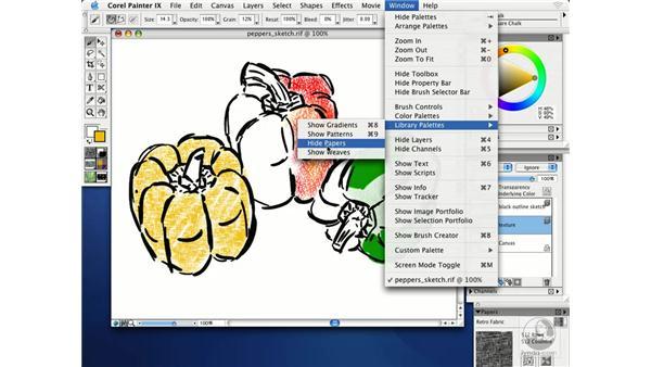 choosing paper textures: Getting Started with Corel Painter IX